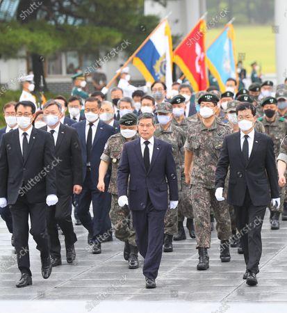 Editorial photo of Korean War anniversary celebrations in Seoul, Korea - 25 Jun 2020