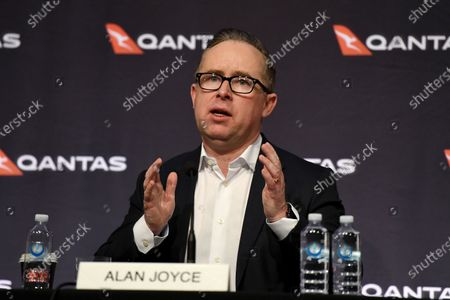 Qantas Chief Executive Officer (CEO) Alan Joyce speaks to the media during a press conference in Sydney, Australia, 25 June 2020. Qantas announced on 25 June that it will sack at least 6,000 employees amid the ongoing coronavirus pandemic crisis.