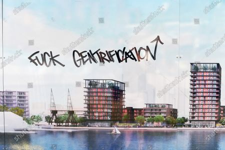Stock Picture of The Westferry Printworks development on the Isle of Dogs, East London.  The Housing minister Robert Jenrick has been accused of bias when he gave the green light to the proposal.