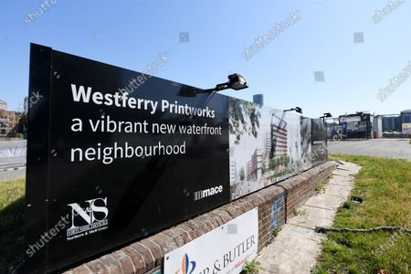 The Westferry Printworks development on the Isle of Dogs, East London.  The Housing minister Robert Jenrick has been accused of bias when he gave the green light to the proposal.