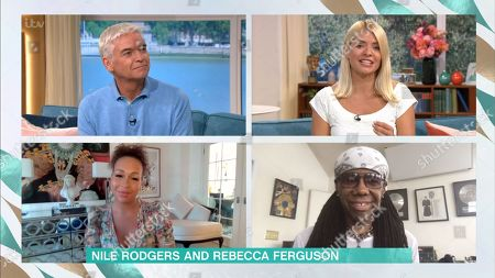 Stock Photo of Phillip Schofield, Holly Willoughby, Rebecca Ferguson, Nile Rogers