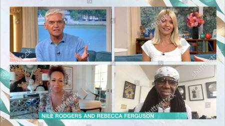 Phillip Schofield, Holly Willoughby, Rebecca Ferguson, Nile Rogers