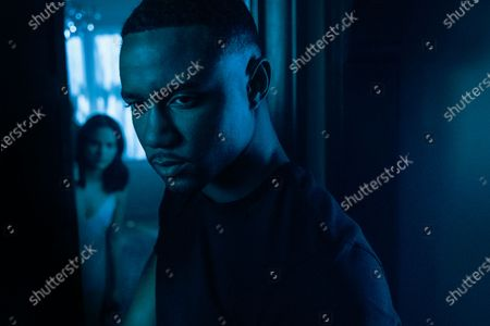 Stock Picture of Camila Mendes as Katie and Jessie T. Usher as Adam