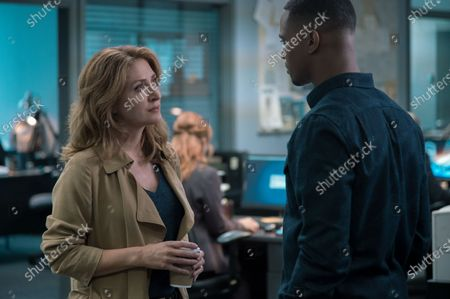 Sasha Alexander as Detective Chesler and Jessie T. Usher as Adam
