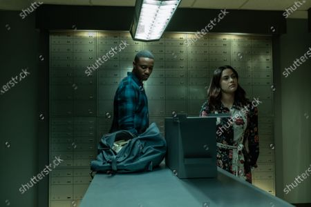 Stock Picture of Jessie T. Usher as Adam and Camila Mendes as Katie