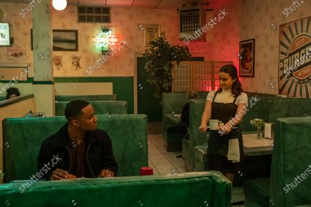 Stock Image of Jessie T. Usher as Adam and Camila Mendes as Katie