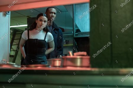 Camila Mendes as Katie and Jessie T. Usher as Adam