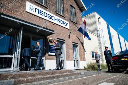 Stock Photo of King Willem-Alexander makes a visit to the companies Nedschroef in Helmond and DAF Trucks in Eindhoven, in the context of the impact of the corona pandemic on the manufacturing industry, in particular the automotive industry.
