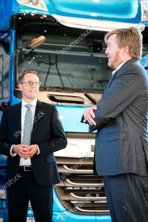 King Willem-Alexander makes a visit to the companies Nedschroef in Helmond and DAF Trucks in Eindhoven, in the context of the impact of the corona pandemic on the manufacturing industry, in particular the automotive industry.