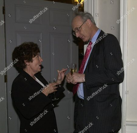 Editorial image of Michael Heseltine's Book Launch Party At Somerset House London. Pictured Are Former Ministers Gillian Shephard (now Baroness Shephard Of Northwold) And Sir George Young.