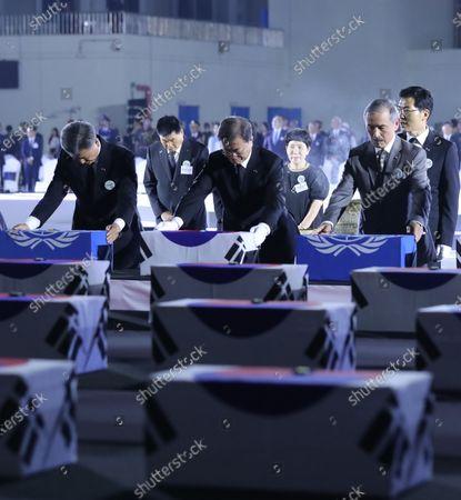 Editorial image of Korean War anniversary observed in Incheon, Seongnam, Korea - 25 Jun 2020