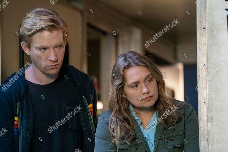 Stock Image of Domhnall Gleeson as Billy Johnson and Merritt Wever as Ruby Richardson