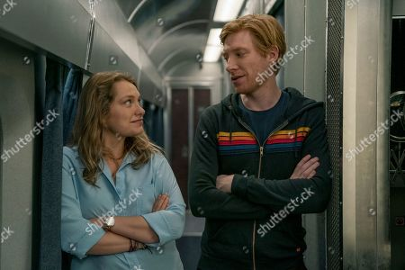 Stock Picture of Merritt Wever as Ruby Richardson and Domhnall Gleeson as Billy Johnson