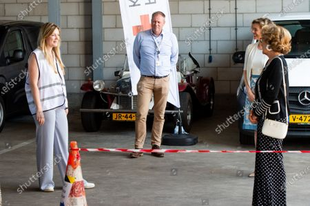 Stock Picture of Princess Margriet of the Netherlands during a visit to Red Cross In Utrecht. The visit is devoted to the work of the Red Cross in the fight against the corona pandemic (COVID-19).