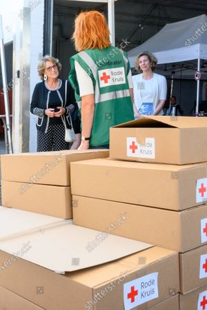 Princess Margriet of the Netherlands during a visit to Red Cross In Utrecht. The visit is devoted to the work of the Red Cross in the fight against the corona pandemic (COVID-19).