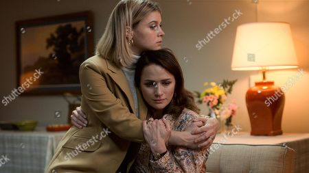 Sarah Jones as Tracy Stevens and Shantel VanSanten as Karen Baldwin