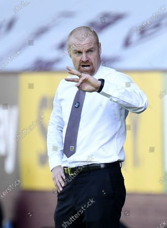Stock Photo of Burnley's manager Sean Dyche during the English Premier League match between Burnley and Watford in Burnley, Britain, 25 June 2020.