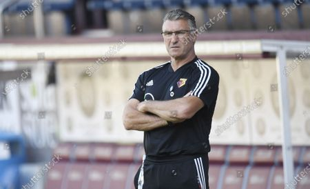Watford's manager Nigel Pearson ahead of the English Premier League soccer match between Burnley and Watford in Burnley, Britain, 25 June 2020.