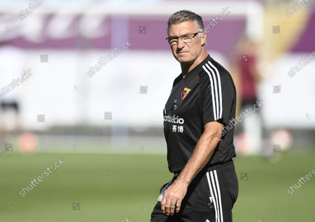 Watford's manager Nigel Pearson ahead of the English Premier League match between Burnley and Watford in Burnley, Britain, 25 June 2020.