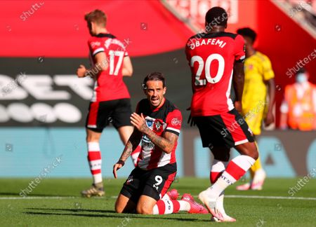 Stock Picture of Southampton's Danny Ings (C) reacts during the English Premier League soccer match between Southampton FC and Arsenal FC in Southampton, Britain, 25 June 2020.