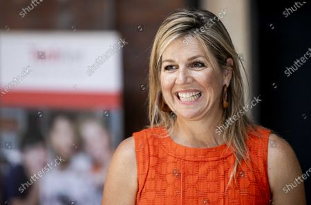 Dutch Queen Maxima smiles during a working visit to the TechnoHub in Woerden, The Netherlands, 25 June 2020. During the visit, the importance of well-trained technical personnel for SMEs and the impact of the Covid-19 coronavirus crisis was discussed.