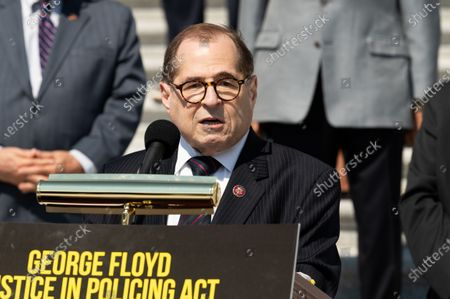 U.S. Representative Jerry Nadler (D-NY) speaks at a press conference ahead of the vote on the George Floyd Justice in Policing Act of 2020.
