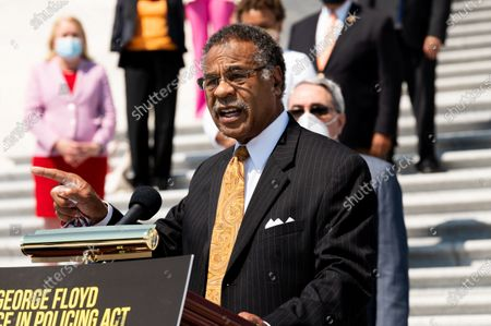 U.S. Representative Emanuel Cleaver (D-MO) speaks at a press conference ahead of the vote on the George Floyd Justice in Policing Act of 2020.