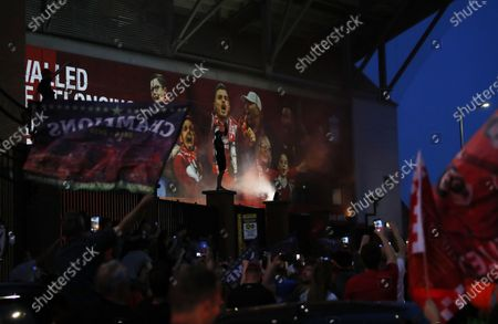Editorial photo of Liverpool crowned champions, United Kingdom - 25 Jun 2020