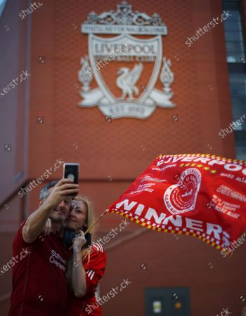 Editorial picture of Liverpool crowned champions of Premier League, United Kingdom - 25 Jun 2020