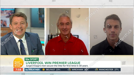 Ben Shephard, Ian Rush and Stephen Warnock