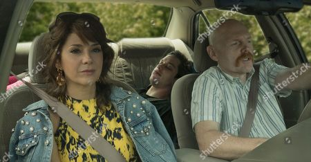 Stock Picture of Marisa Tomei as Margie Carlin, Pete Davidson as Scott Carlin and Bill Burr as Ray Bishop