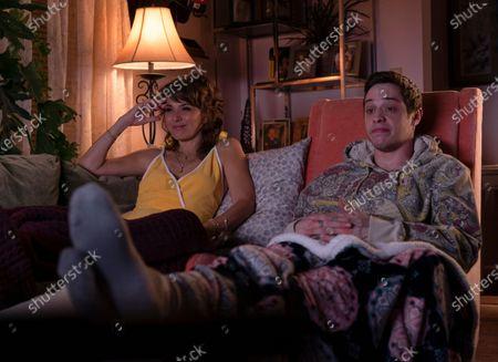 Marisa Tomei as Margie Carlin and Pete Davidson as Scott Carlin