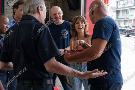 Stock Image of Giselle King as Firefighter Jaylen Patterson, John Sorrentino as Captain Palazzo, Steve Buscemi as Papa, Bill Burr as Ray Bishop, Marisa Tomei as Margie Carlin and Domenick Lombardozzi as Firefighter Lockwood