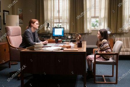 Joelle Carter as Principal Kim Collins and Brooklynn Prince as Hilde Lisko