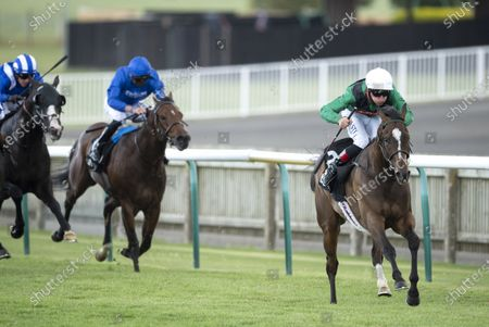 Limato (Adam Kirby) wins the Betway Criterion Stakes (Group 3)Newmarket 27.6.20 Pic: Edward Whitaker/ Racing Post, supplied by Hugh Routledge.