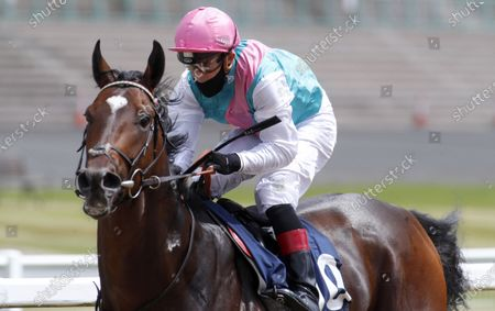 Tilsit and Ben Curtis winning The Win Bigger On Betfair Exchange Novice Median Auction StakesNewcastle 27.6.2020Dan Abraham, supplied by Hugh Routledge.