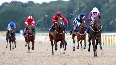 Stock Photo of Toussarok and PJ McDonald (right) winning The Setting The Odds on The Betfair Exchange/EBF Novice StakesNewcastle 27.6.2020Dan Abraham, supplied by Hugh Routledge.