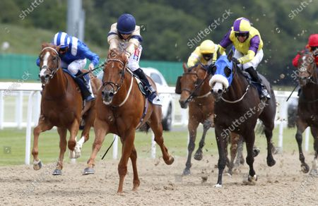 Glen Shiel and Hollie Doyle  winning The Betfair Racing Only Bettor Handicap StakesNewcastle 27.6.2020Dan Abraham, supplied by Hugh Routledge.