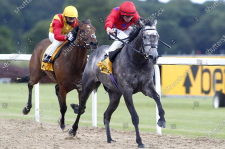 Stock Picture of Nkosikazi and Tom Marquand winning The Betfair Exchange Hoppings Fillies' StakesNewcastle 27.6.2020Dan Abraham, supplied by Hugh Routledge.