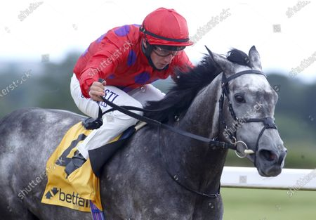 Editorial photo of Horse Racing from Newcastle Racecourse, Gosforth Park, UK -27 Jun 2020