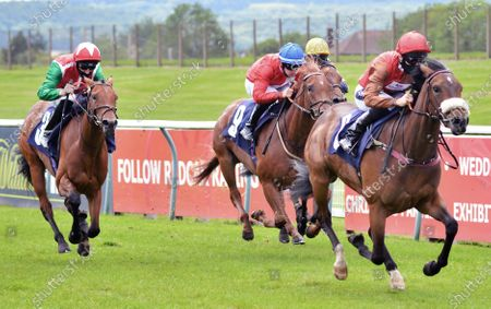 Magisterium and Paul Mulrennan winning the British stallion studs EBF M edian auction maiden stakesRedcar 27th June 2020pic Tony Knapton, supplied by Hugh Routledge.