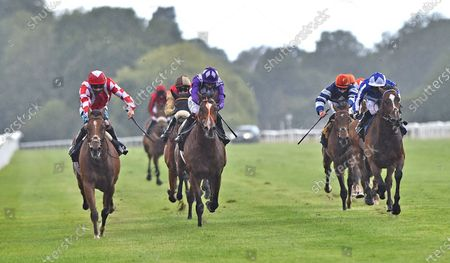Stock Image of (L) Mayfair Spirit (Stevie Donohoe) wins The Follow At The Races On Twitter Handicap Stakes.