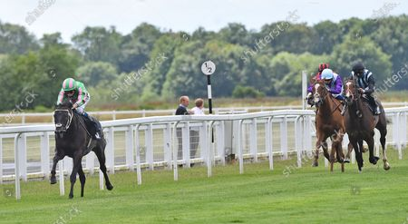 (L) Pogo (Kieran Shoemark) wins The Bombardier British Hopped Amber Midsummer Stakes.
