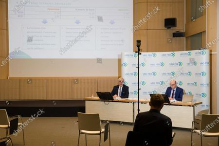Editorial image of Vbo Feb Press Conference Focus Conjuncture, Brussels, Belgium - 26 Jun 2020