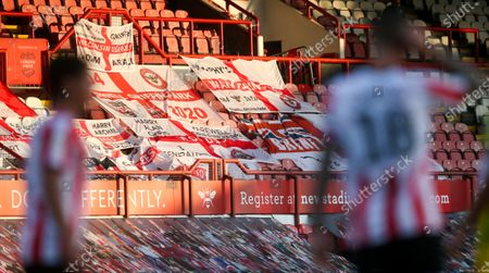 Supporters' flags in the stands