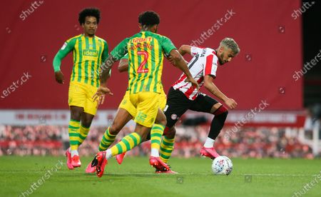 Said Benrahma of Brentford attacks Darnell Furlong of West Bromwich Albion
