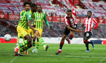 Editorial picture of Brentford v West Bromwich Albion, Sky Bet Championship, Football, Griffin Park, London, UK - 26 Jun 2020