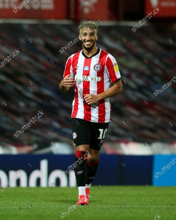 Said Benrahma of Brentford smiles after victory