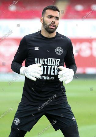 Black Lives Matter top worn by Goalkeeper David Raya of Brentford