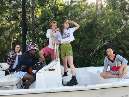 Austin North as Topper, Jonathan Daviss as Pope, Rudy Pankow as JJ, Madelyn Cline as Sarah Cameron and Madison Bailey as Kiara